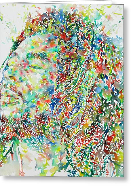 Bob Marley Watercolor Portrait.1 Greeting Card