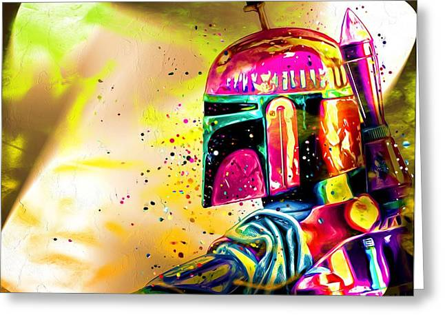 Boba Fett Star Wars Greeting Card by Daniel Janda