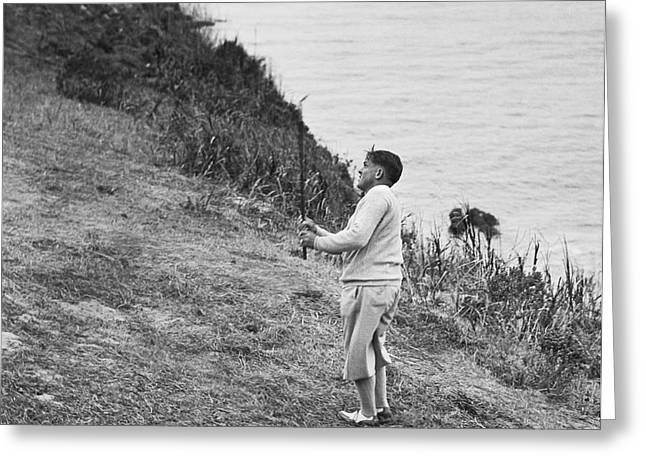 Bobby Jones At Pebble Beach Greeting Card