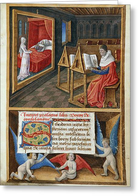 Boethius And Philosophy Greeting Card