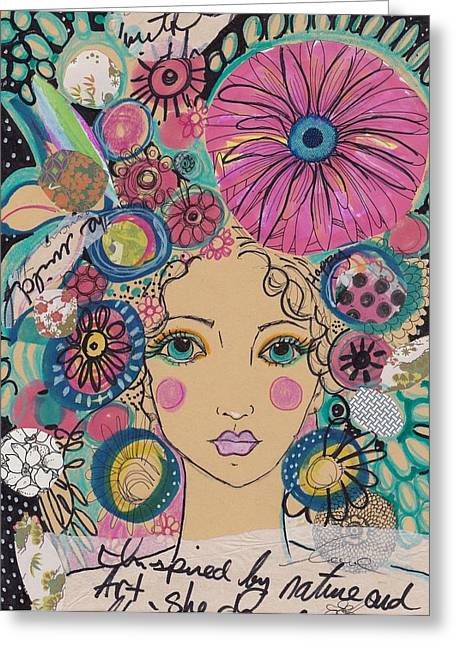 Boho Flower Girl  Greeting Card