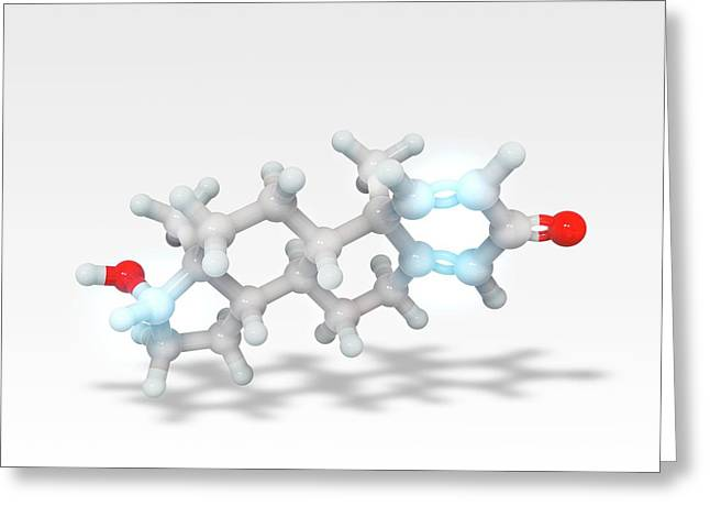 Boldenone Anabolic Steroid Molecule Greeting Card by Ramon Andrade 3dciencia