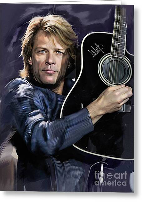Bon Jovi Greeting Card by Melanie D