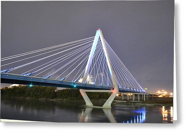 Bond Bridge Greeting Card by Shelley Wood