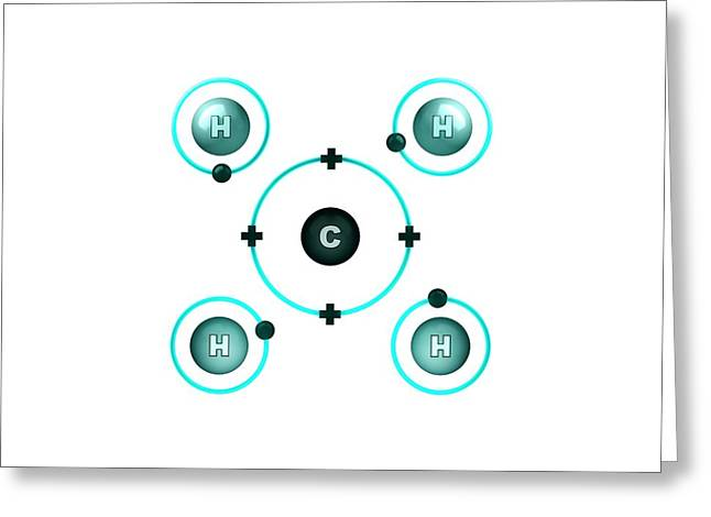 Bond Formation In Methane Molecule Greeting Card