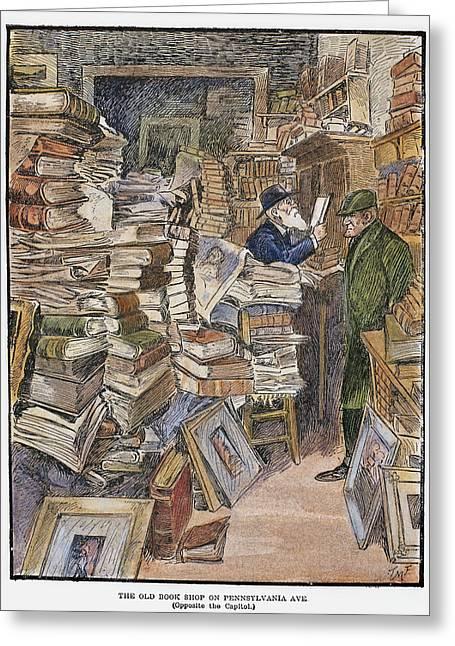 Bookshop, 1902 Greeting Card
