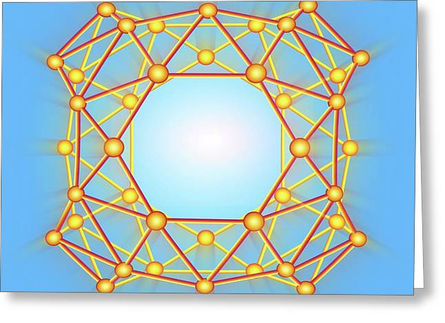 Boron Buckyball Greeting Card
