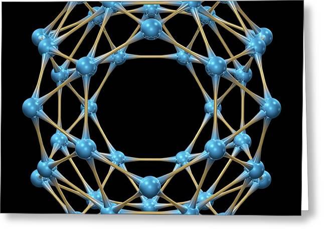 Borospherene Molecule Greeting Card by Dr Mark J. Winter