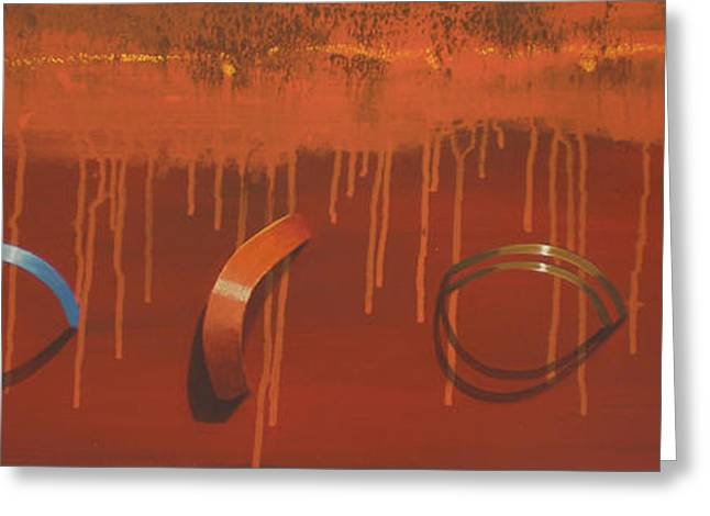 Bossini 5 Rings Greeting Card by Clive Holden