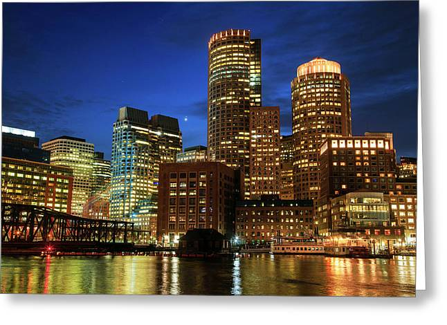 Boston Greeting Card by Babak Tafreshi