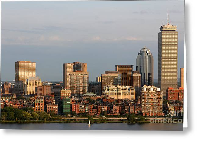 Boston Back Bay Skyline Greeting Card by Jannis Werner