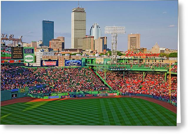 Boston Skyline With View Of Historic Greeting Card