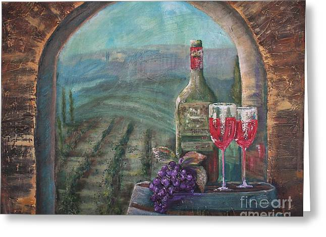 Bottle For Two Greeting Card by Jodi Monahan