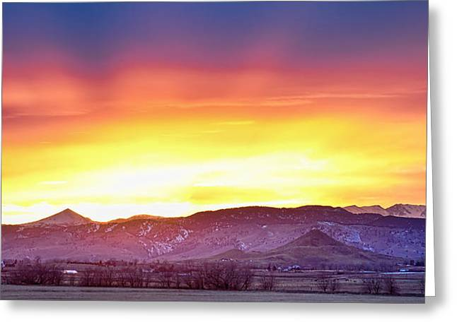 Boulder County Haystack Rocky Mountain Sunset Greeting Card