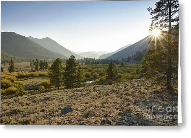 Boulder Mountain Sunset Greeting Card by Idaho Scenic Images Linda Lantzy