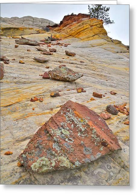 Boulder-notom Road Rocks Greeting Card
