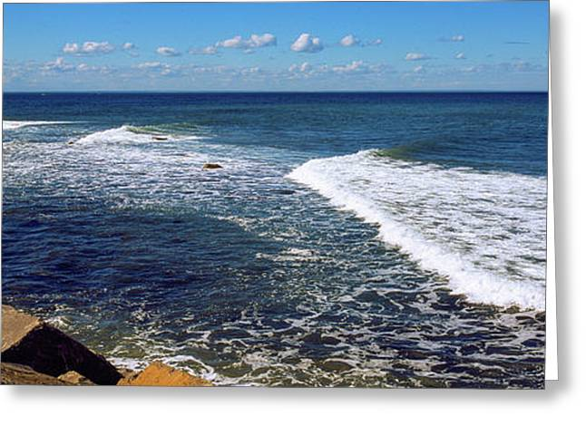 Boulders On The Beach, Montauk Point Greeting Card by Panoramic Images