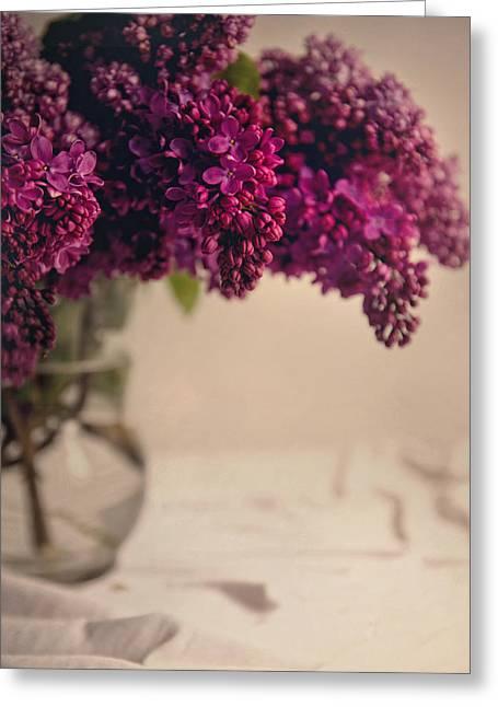 Bouquet Of Fresh Lilacs Greeting Card by Jaroslaw Blaminsky