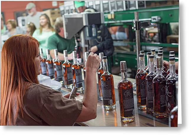 Bourbon Bottling Production Line Greeting Card by Jim West