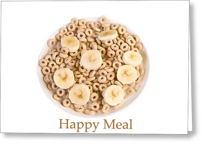 Bowl Of Toasted Oats Cereal Greeting Card