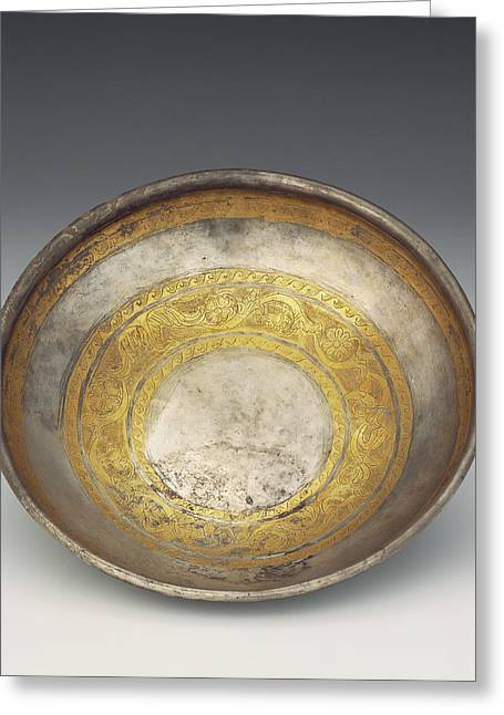 Bowl With Tendril Frieze Unknown Eastern Hellenistic Empire Greeting Card