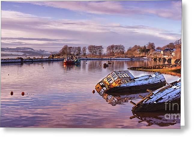 Bowling Harbour Panorama 02 Greeting Card