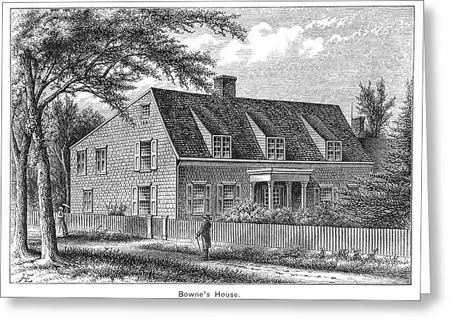 Bowne House, 1661 Greeting Card by Granger