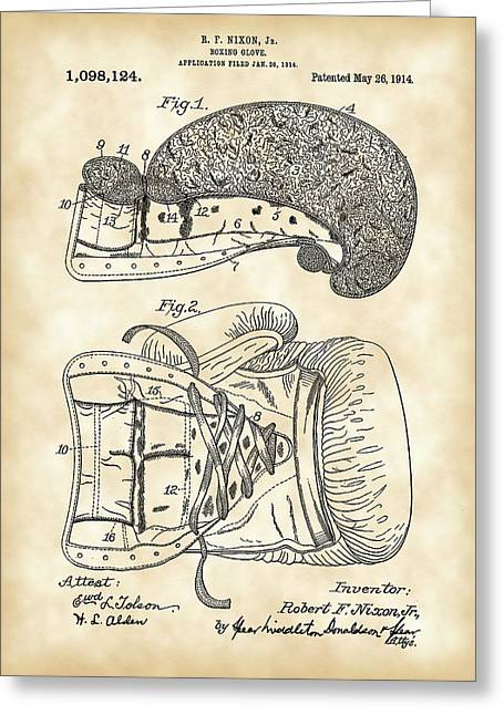 Boxing Glove Patent 1914 - Vintage Greeting Card by Stephen Younts
