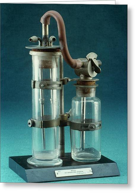 Boyle's Apparatus For Anaesthesia Greeting Card by Science Photo Library