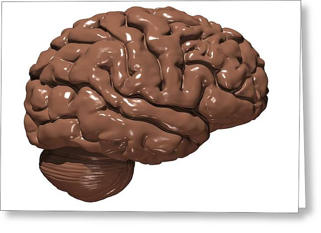 Brain Made Of Chocolate Greeting Card