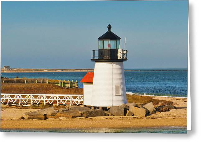 Brant Point Lighthouse Nantucket Greeting Card by Marianne Campolongo