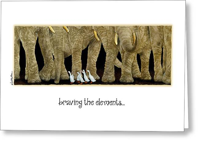Braving The Elements... Greeting Card