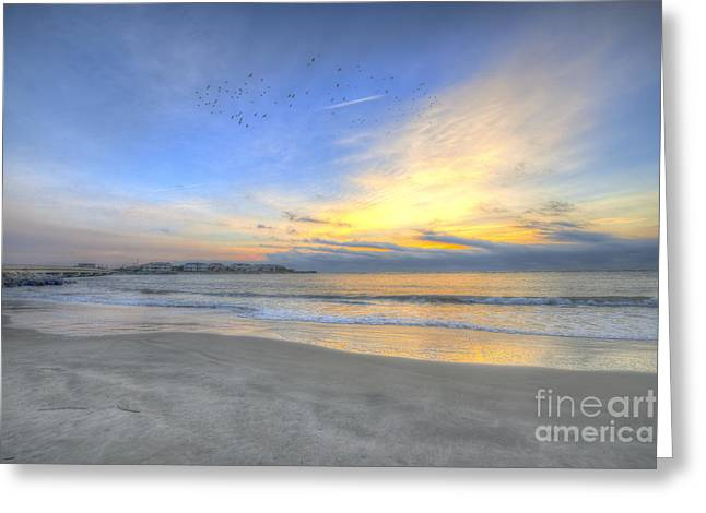 Breach Inlet Sunrise Greeting Card