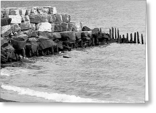 Greeting Card featuring the photograph Breakwater by Ricky L Jones