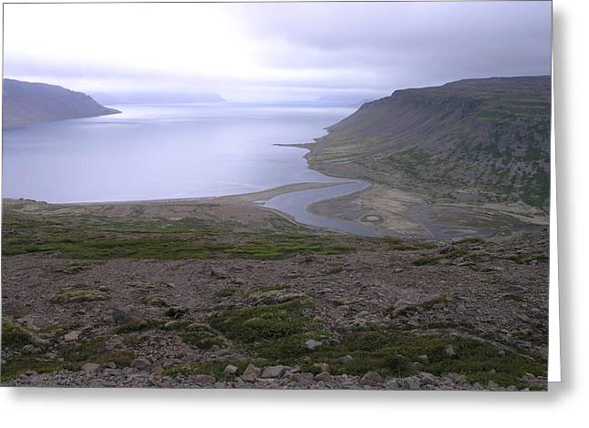 Greeting Card featuring the photograph Breidavik by Christian Zesewitz