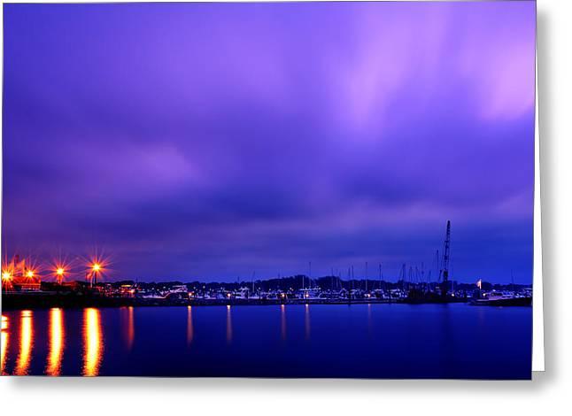 Brewer Yacht Yard At Cowesett Rhode Island Greeting Card by Lourry Legarde