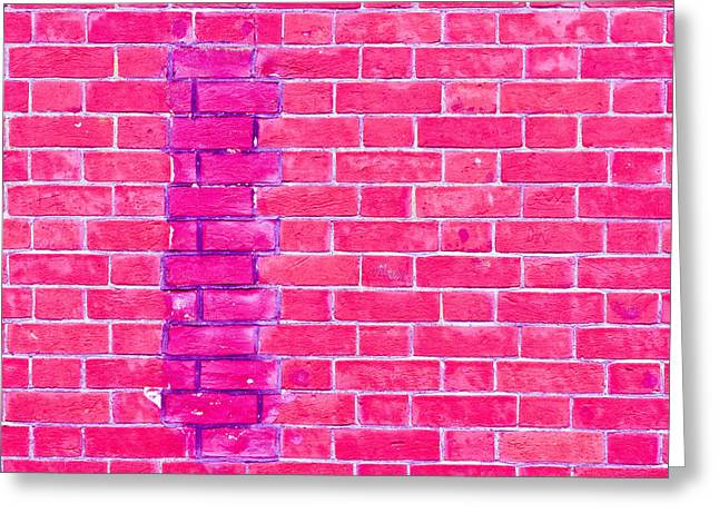Brick Wall Repair Greeting Card