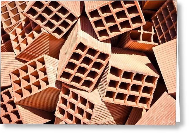 Bricks Greeting Card by Tom Gowanlock