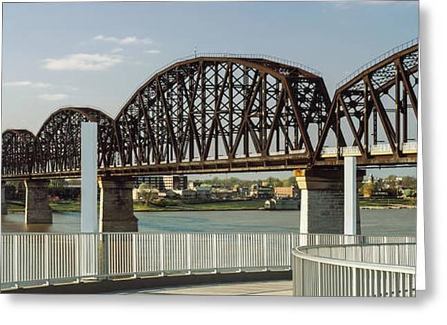 Bridge Across A River, Big Four Bridge Greeting Card by Panoramic Images