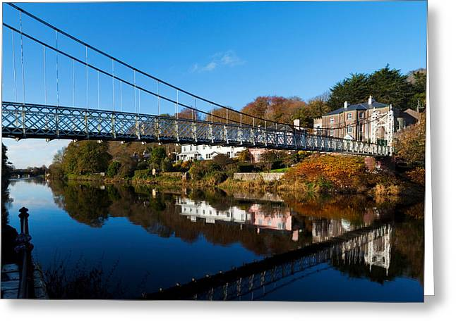 Bridge Across A River, Dalys Bridge Greeting Card by Panoramic Images