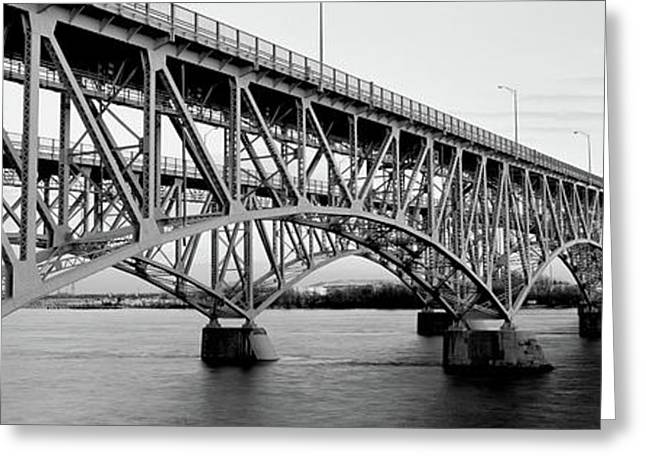 Bridge Across A River, South Grand Greeting Card by Panoramic Images