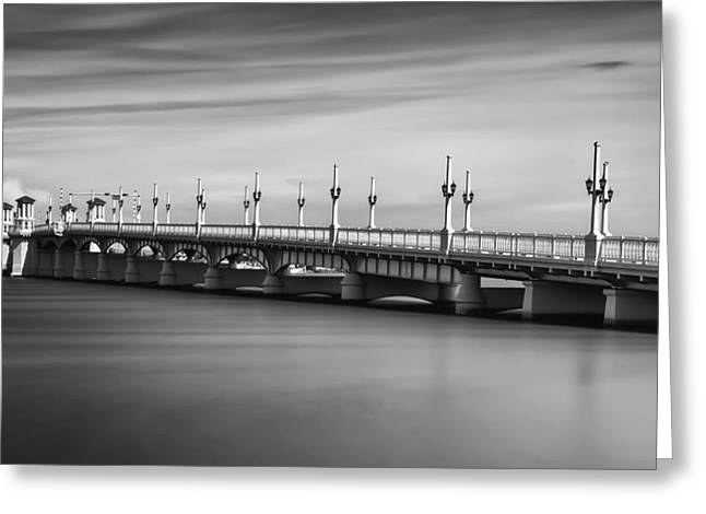 Bridge Of Lions Greeting Card by David Mcchesney