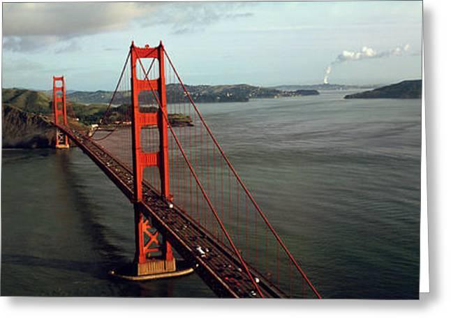 Bridge Over A Bay, Golden Gate Bridge Greeting Card