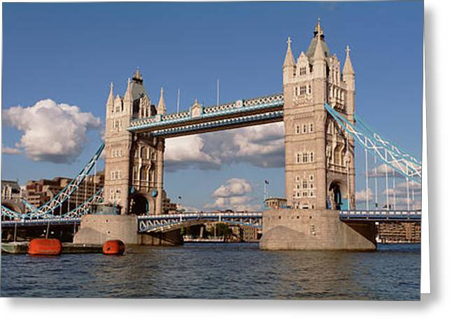 Bridge Over A River, Tower Bridge Greeting Card by Panoramic Images