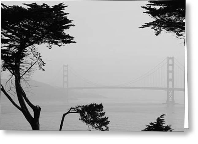 Bridge Over Water, Golden Gate Bridge Greeting Card by Panoramic Images