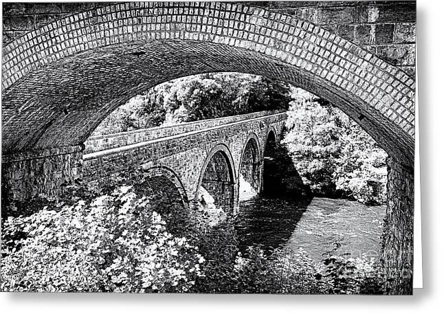 Bridge Under A Bridge Greeting Card by Jane Rix
