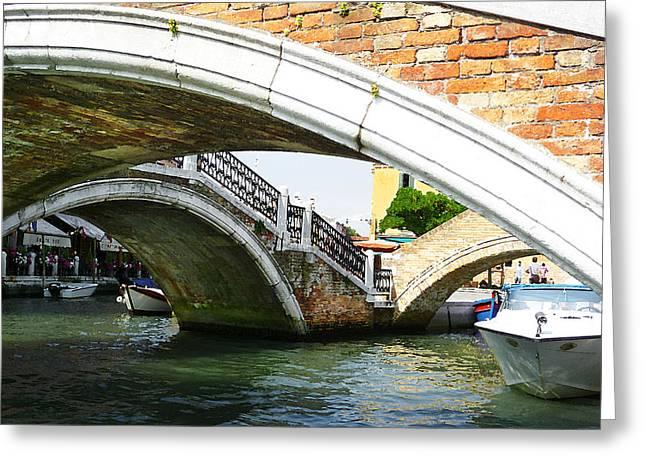 Bridges Of Venice Greeting Card by Irina Sztukowski
