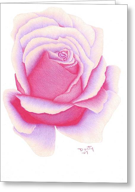 Bright Passion Greeting Card by Dusty Reed