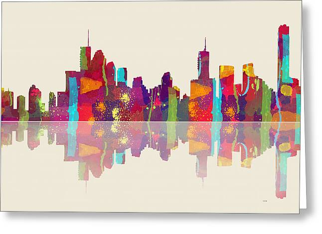 Brisbane Australia Skyline Greeting Card