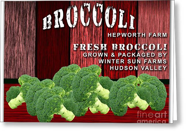 Broccoli Farm Greeting Card by Marvin Blaine